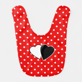 Red polka dot red bib