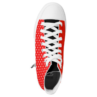 Red polka dot red printed shoes