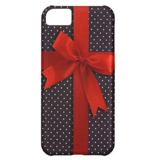 Red Polka Dot Ribbon iPhone 5C Case
