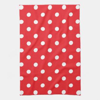 Red Polka Dot Tea Towel