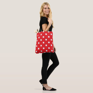 Red Polka Dot Tote Bag
