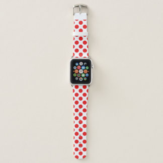 Red Polka Dots Apple Watch Band