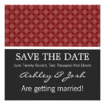 Red Polka Dots   Background  Save The Date Invites