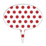 Red Polka Dots Cake Picks