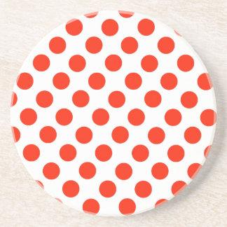 Red Polka dots Drink Coaster