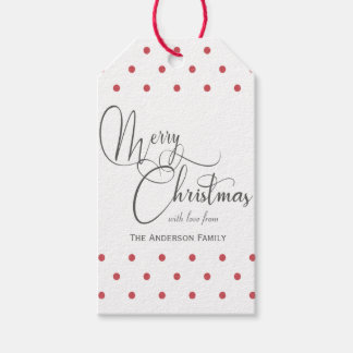 Red polka dots gift tags