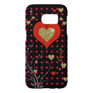 red polka dots & hearts