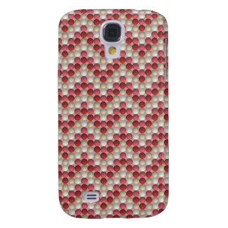 Red Polka Dots In Zig Zag Pattern Galaxy S4 Case