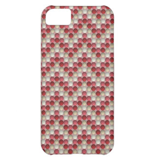 Red Polka Dots In Zig Zag Pattern iPhone 5C Case