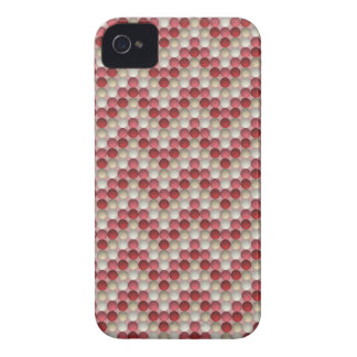 Red Polka Dots In Zig Zag Pattern Case-Mate iPhone 4 Cases
