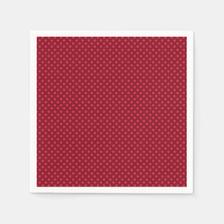 Red Polka Dots on Red Disposable Serviette