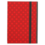 Red polka dots pattern iPad air cases