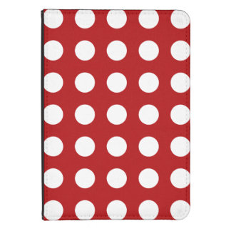 Red Polka Dots Pattern Kindle Case