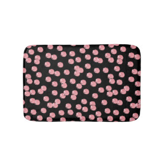 Red Polka Dots Small Bath Mat