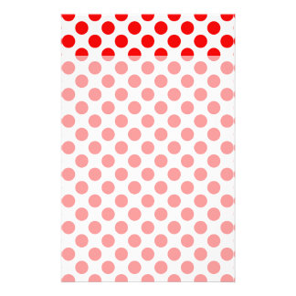 Red Polka Dots Stationery