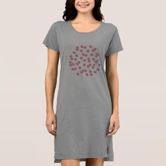 Red Polka Dots Women's T-Shirt Dress