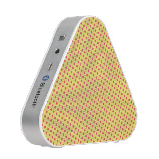 Red Polka Dotted Yellow Triangle Speaker