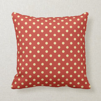 Red polkadot pillow