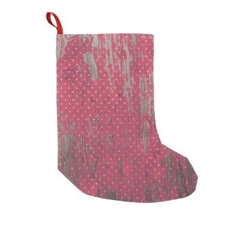 red polkadot wood rustic christmas stocking decor