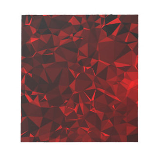 Red polygonal background notepad