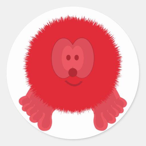 Red Pom Pom Pal Stickers