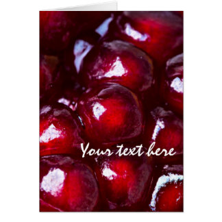 Red Pomegranate Seeds Card