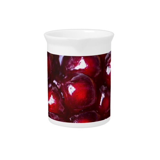 Red Pomegranate Seeds Drink Pitchers
