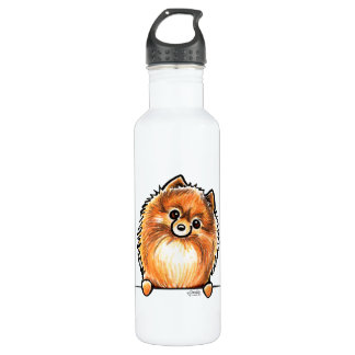 Red Pomeranian Paws Up 710 Ml Water Bottle