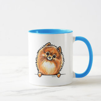 Red Pomeranian Paws Up Mug