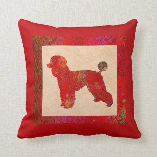Red Poodle Cushion