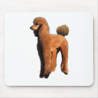 red poodle mouse mat