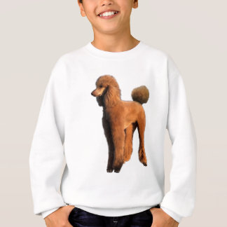 red poodle sweatshirt