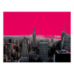 Red Pop Art New York City Poster Print