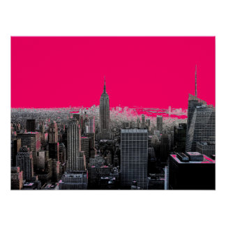 Red Pop Art New York City Poster Print