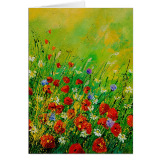 red poppies 450708 card
