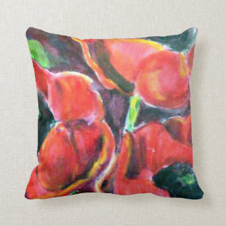 Red Poppies artwork Cushion