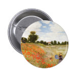 Red Poppies Blooming - Claude Monet 6 Cm Round Badge