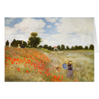 Red Poppies Blooming - Claude Monet Card