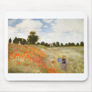 Red Poppies Blooming - Claude Monet Mouse Pad