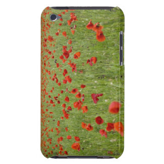 Red poppies blooming in field barely there iPod cases