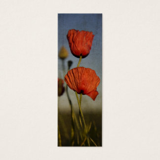 Red Poppies, bookmark Mini Business Card