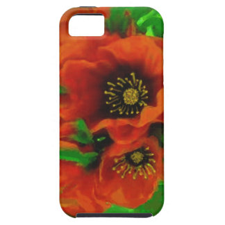 Red Poppies Case For The iPhone 5