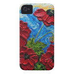 Red Poppies Case-Mate iPhone 4 Cases
