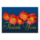 Red Poppies Colourful Photo Chic Floral Thank You Card
