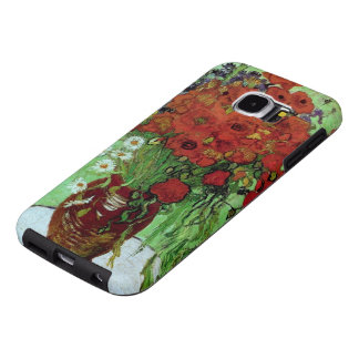Red Poppies & Daisies (F280) Van Gogh Fine Art Samsung Galaxy S6 Cases