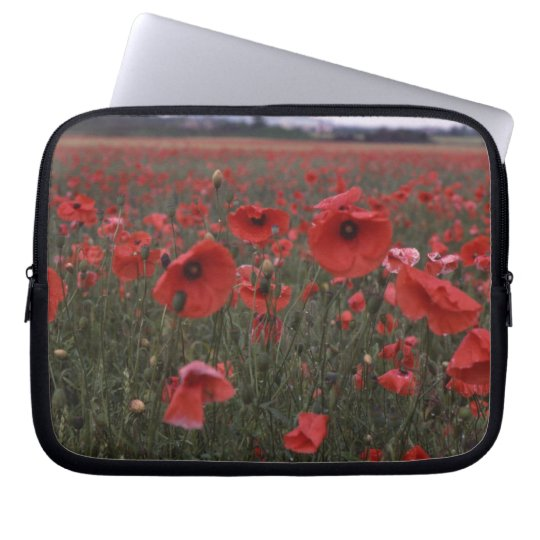 red poppies electronics bag