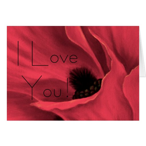 Red Poppies Flower Art Painting - ... - Customized Card