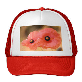 Red Poppies Flower Duo Cap