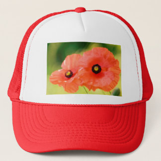 Red Poppies Flower Duo Trucker Hat