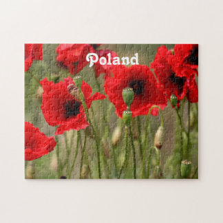 Red Poppies in Poland Jigsaw Puzzle